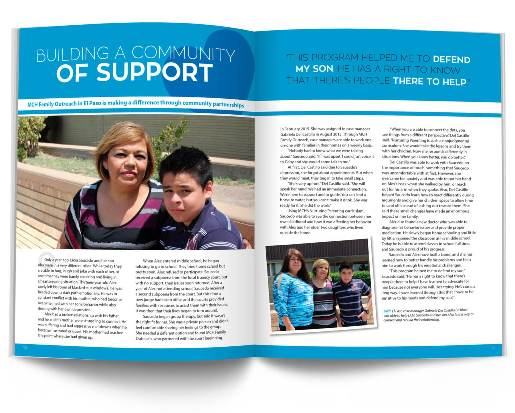 Building a Community of Support Magazine Spread