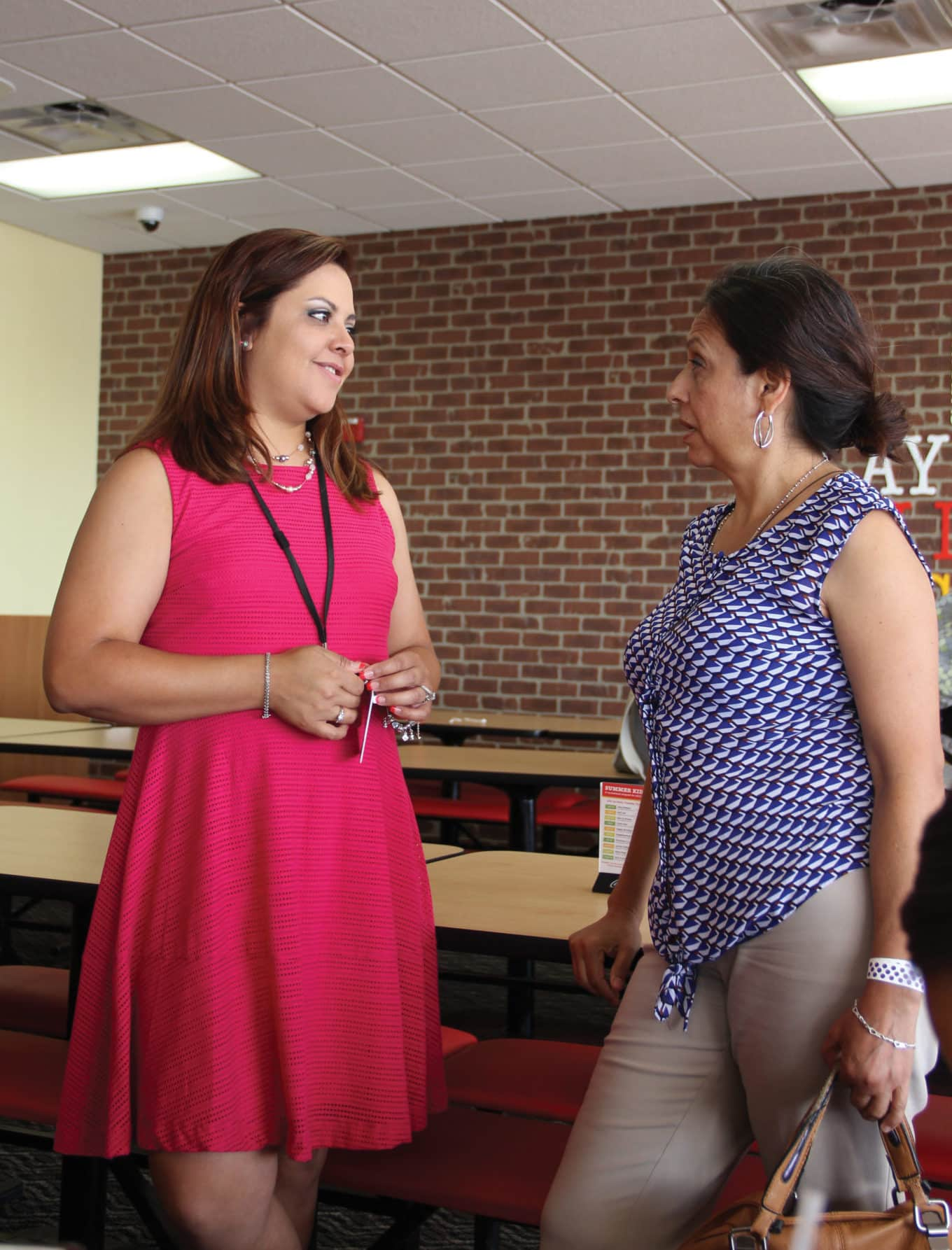 Outreach staff meets with school staff