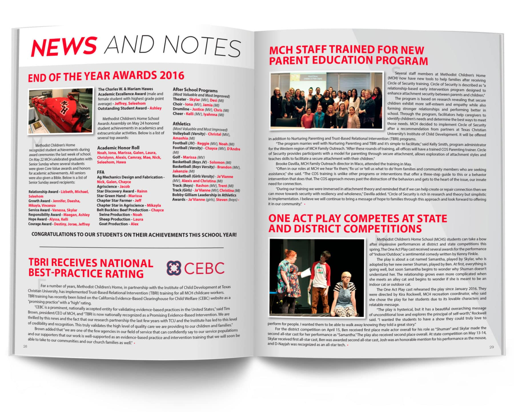 News and Notes Summer 2016 Magazine Spread