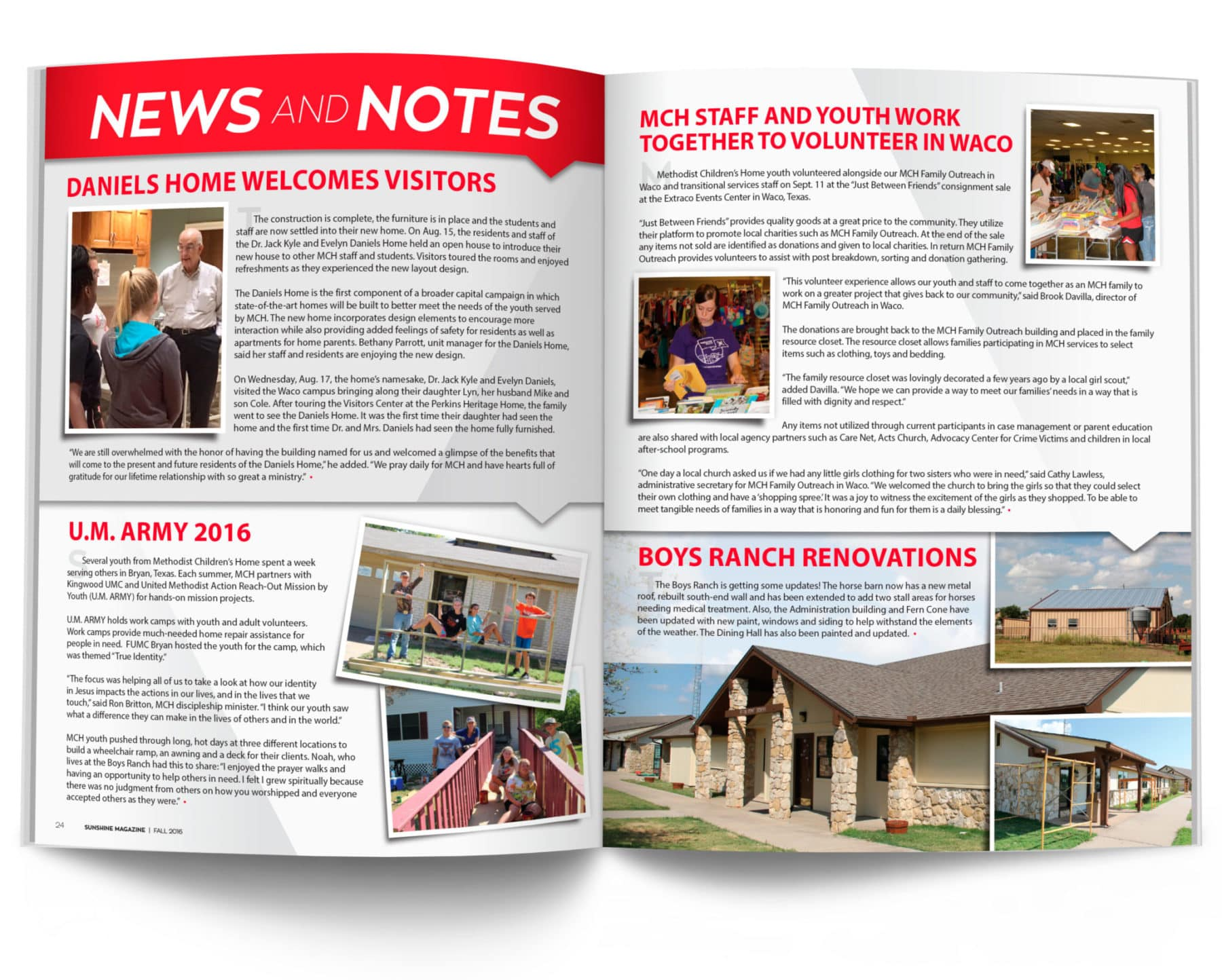 News and Notes Fall 2016 Spread