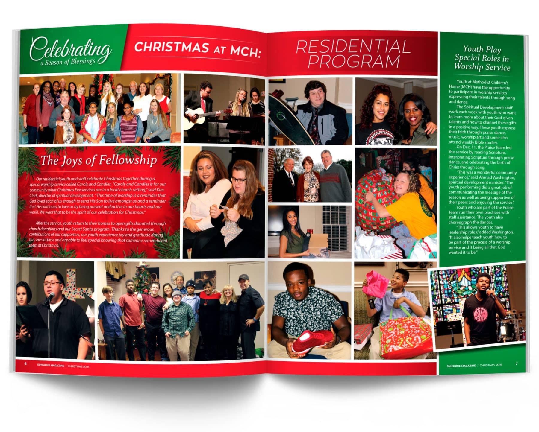 Residential Program Magazine Spread