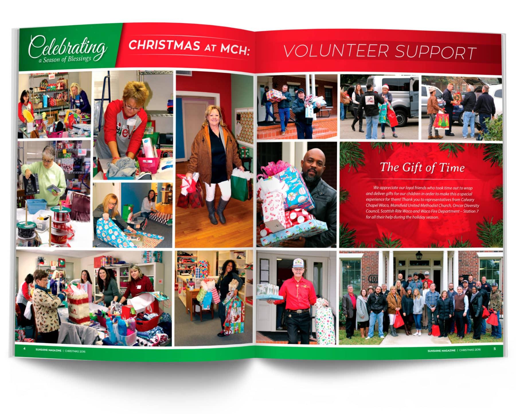 Volunteer Support Magazine Spread