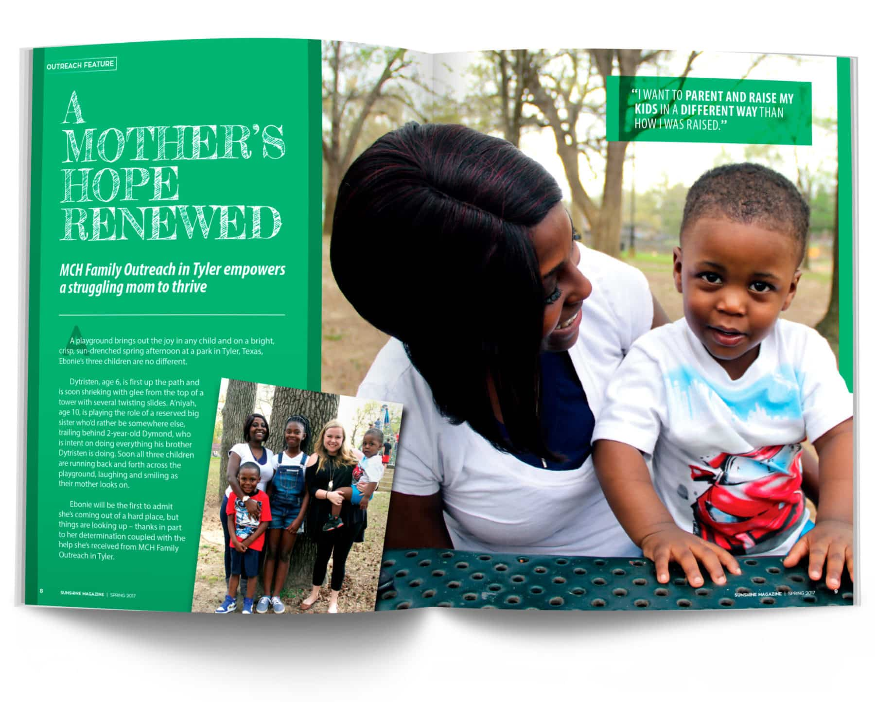 Magazine Spread - A Mother's Hope Renewed