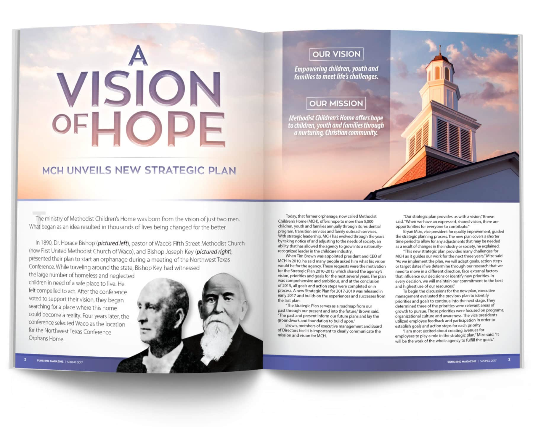Magazine Spread - A Vision of Hope