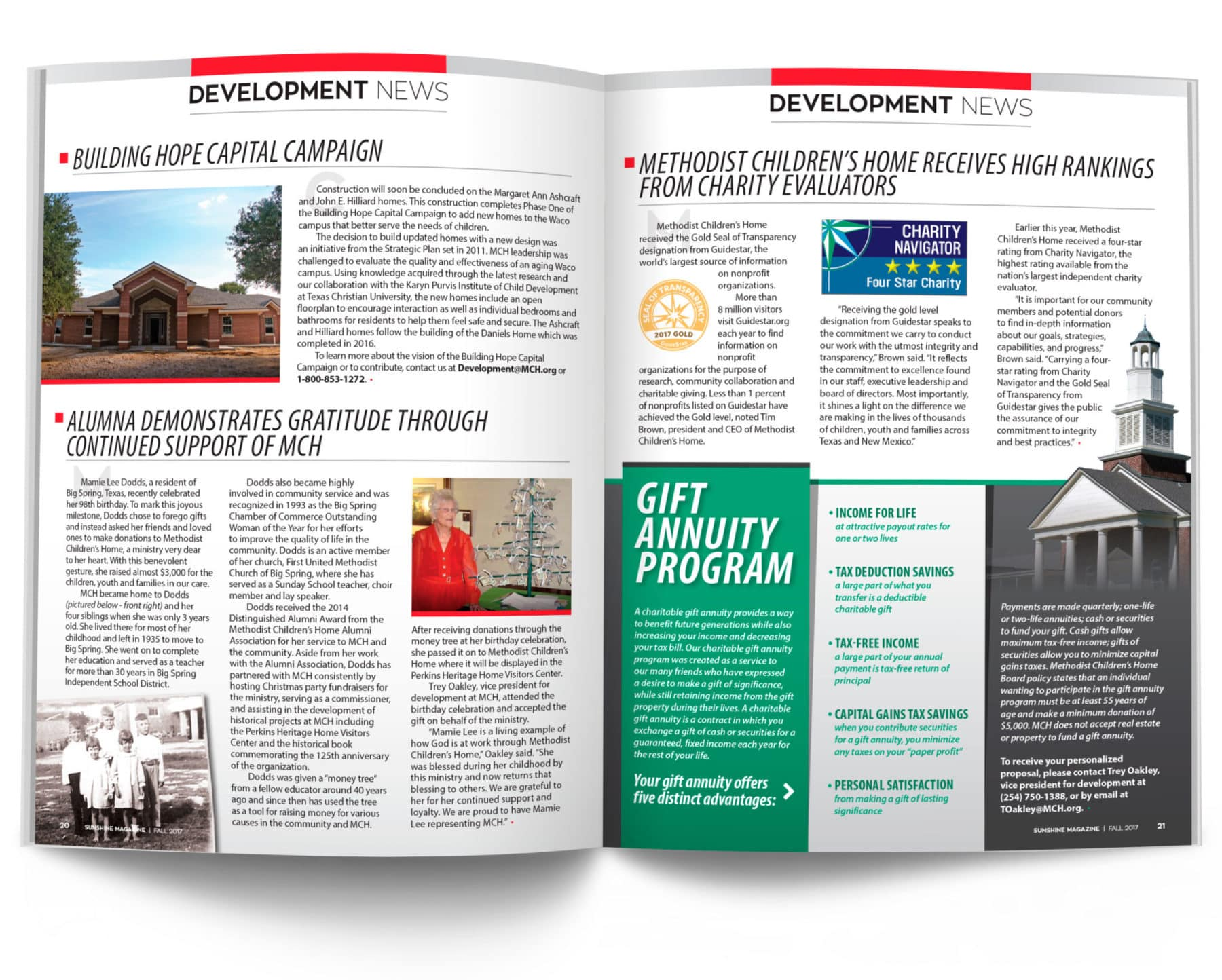 Magazine Spread - Development News
