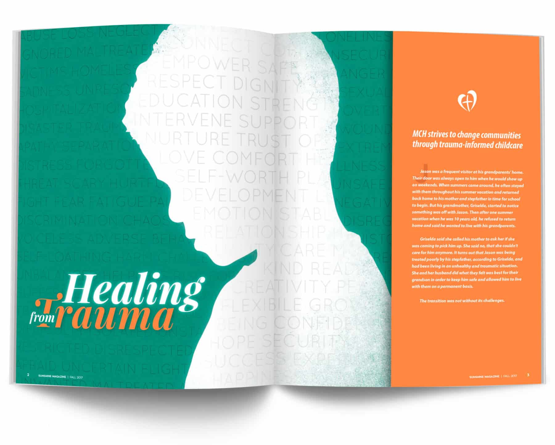 Magazine Spread - Healing from Trauma
