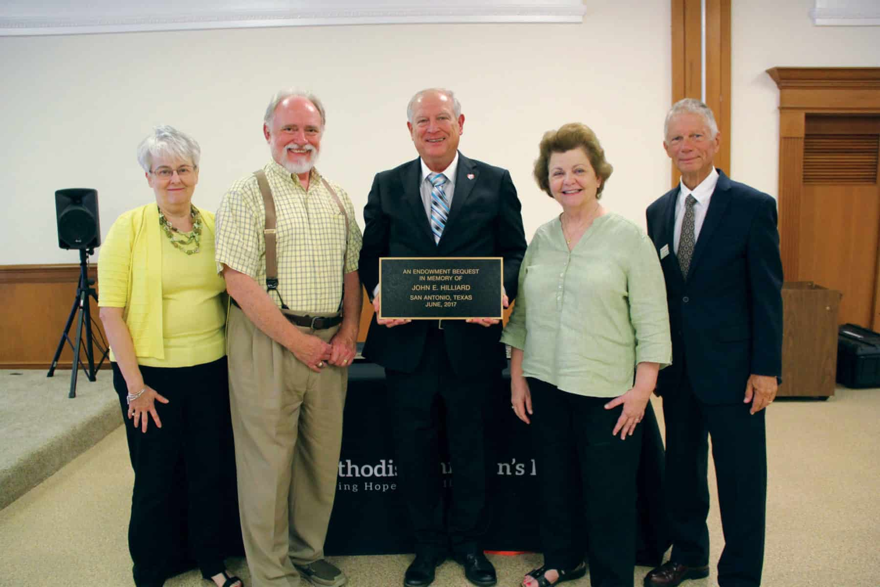 Photo of Hilliard Memorial Plaque Ceremony