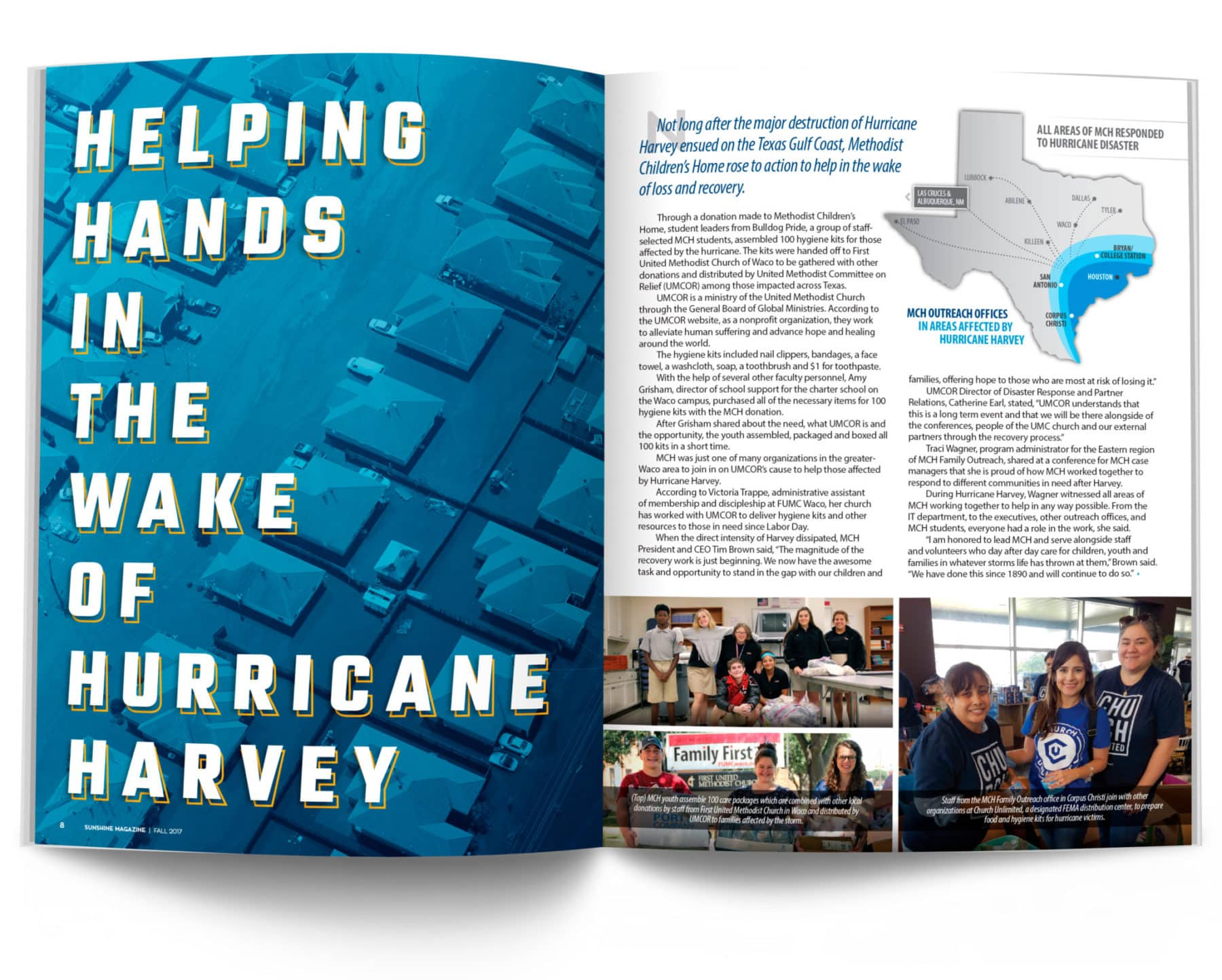 Magazine Spread - Helping Hands in the Wake of Hurricane Harvey