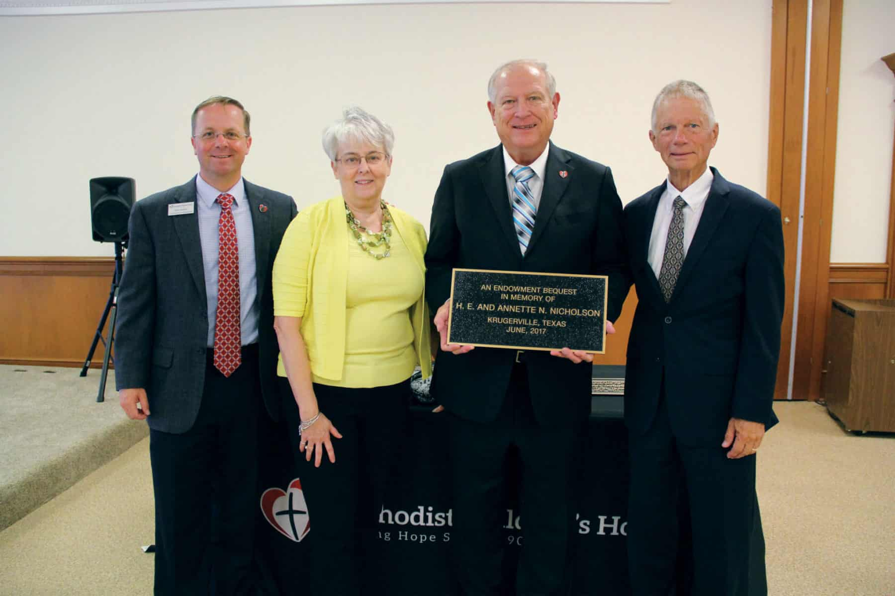 Photo of Nicholson Memorial Plaque Ceremony