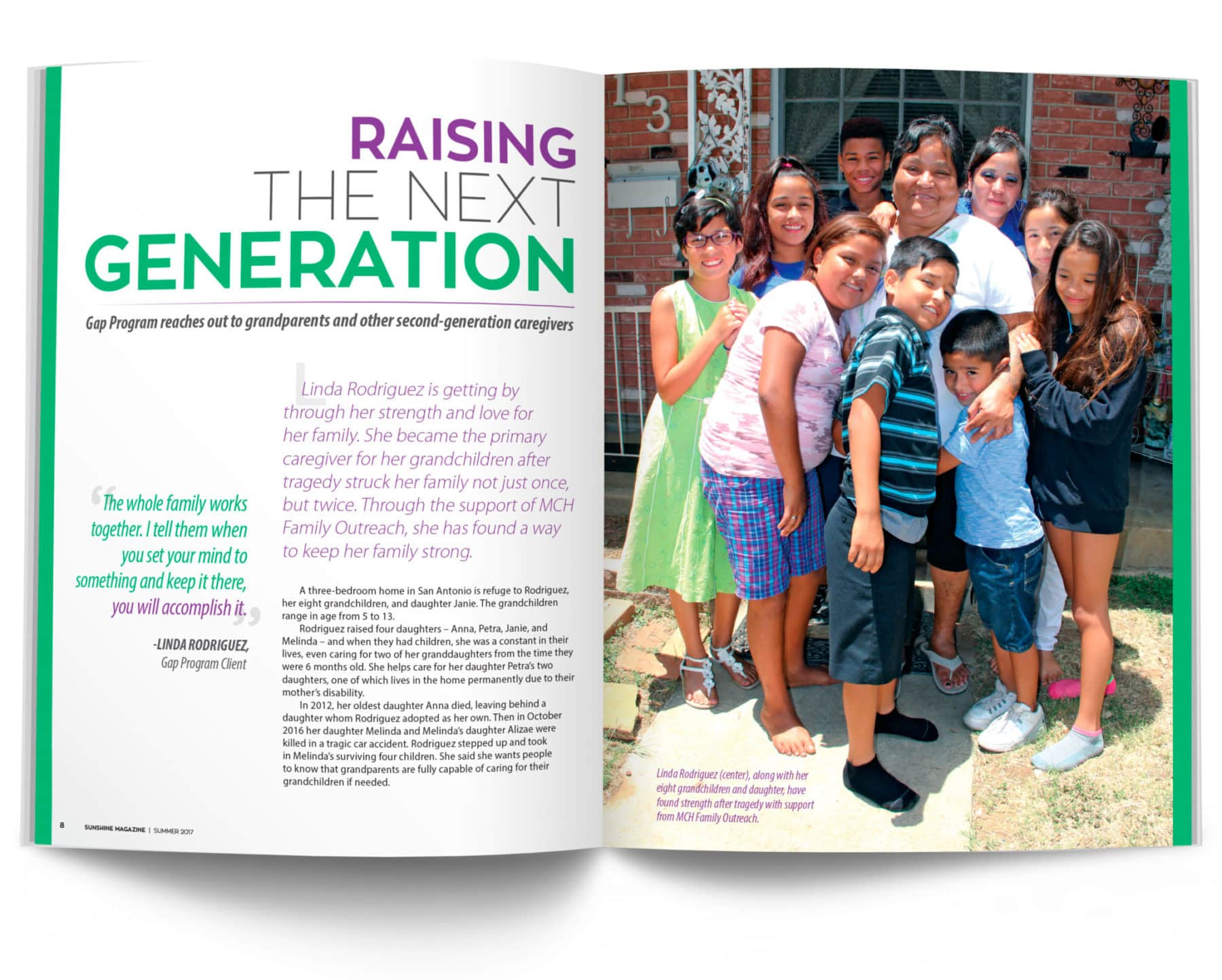 Magazine Spread - Raising the Next Generation