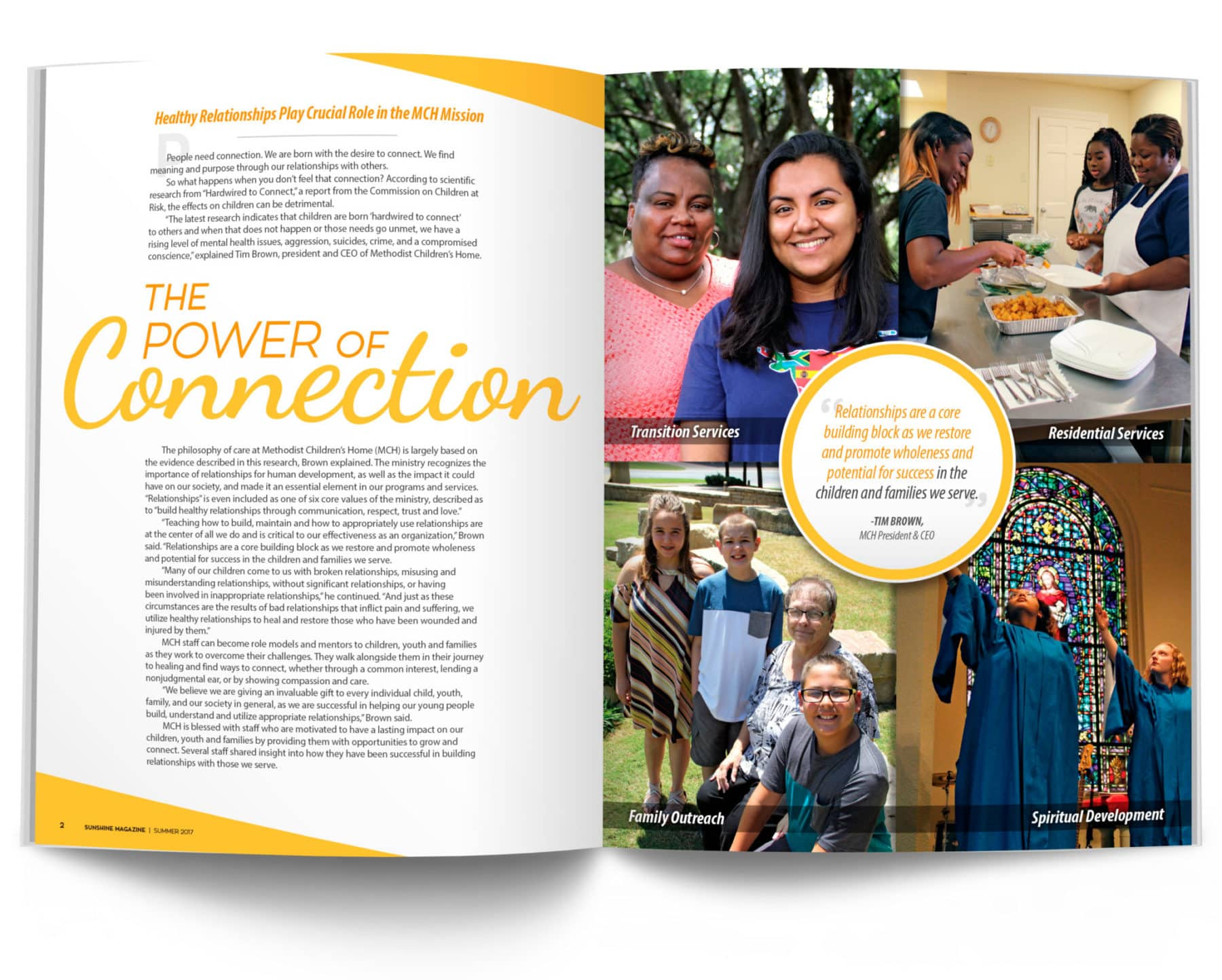 Magazine Spread - The Power of Connection