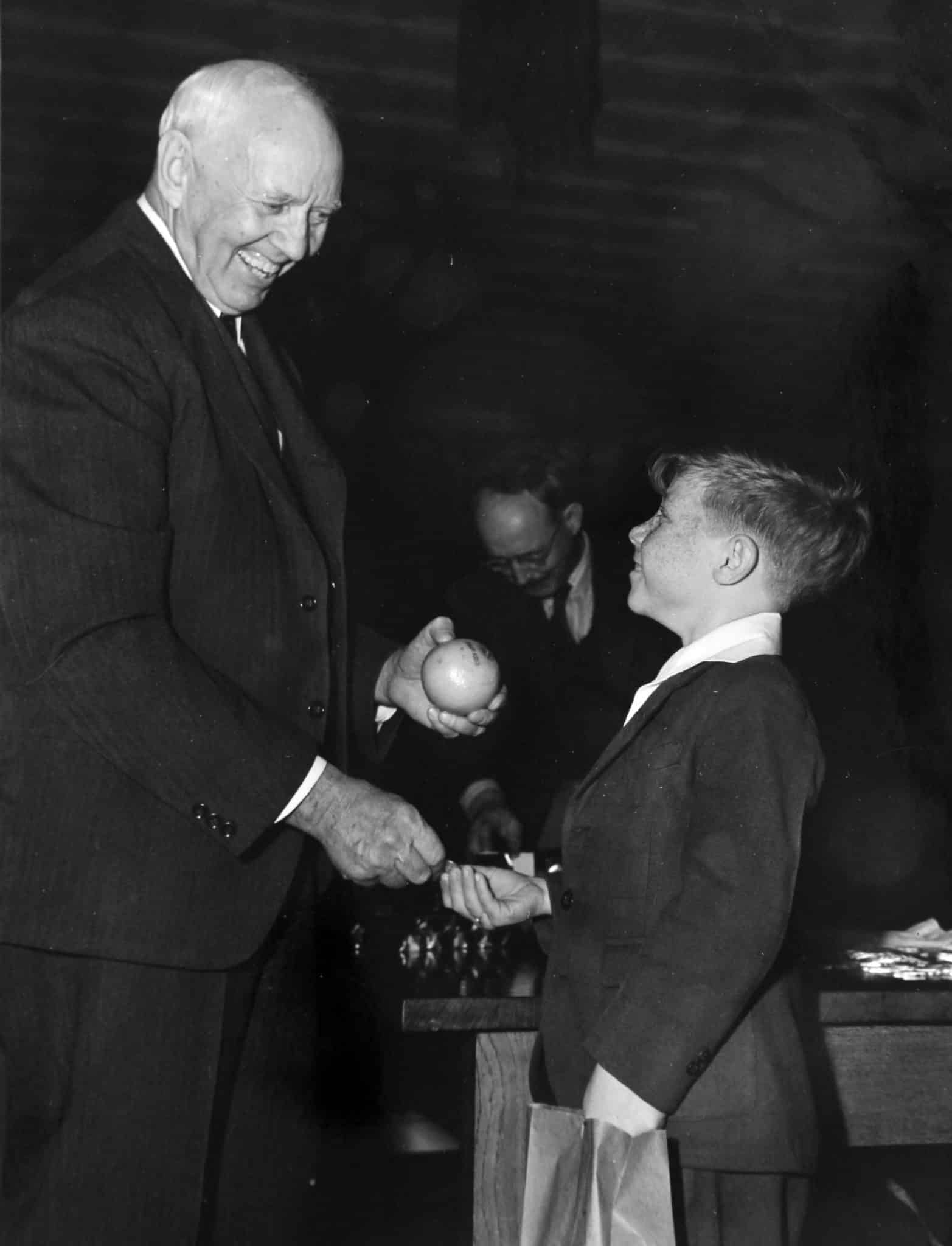 Joe Perkins with boy Jan 1943