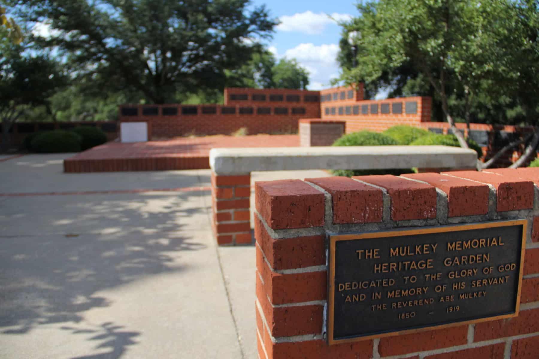 Mulkey Memorial Heritage Garden Plaque
